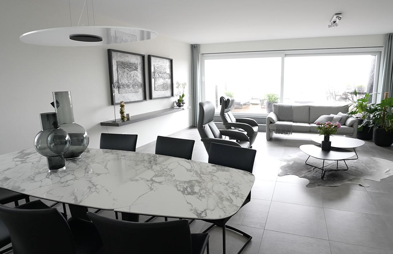 Modern appartement Roeselare - Vandermeeren Interieurs